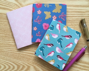 Floral Mini Notebook Shopping List Pad With Pen Handbag Notebook Gift JB