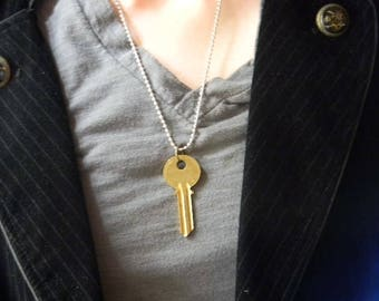 TARDIS Key Cosplay Necklace