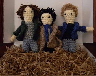 SUPERNATURAL Sam Dean and Cas Crochet Plushies