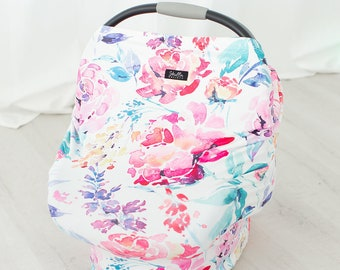 Floral Multi Use Baby Car Seat Canopy Cover