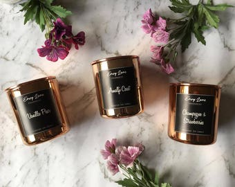 Scented Soy Candles - Rose Gold (195G)