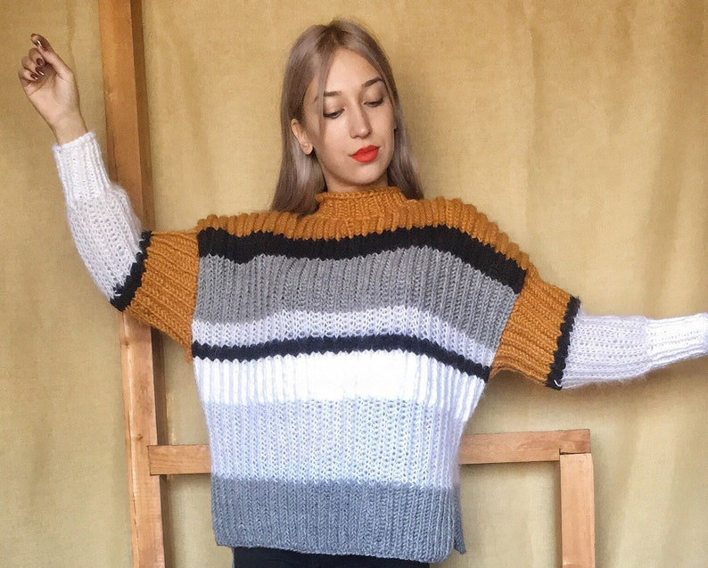 7fa0bb19f Arm knit sweater Chunky arm knit sweater Yellow sweater