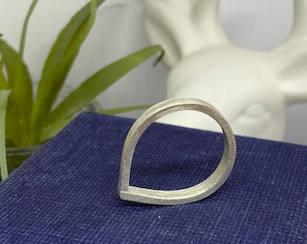 Sterling Silver Droplet Ring