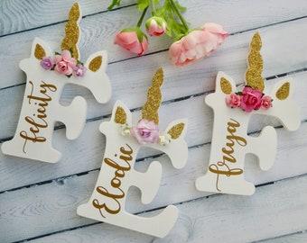 Personalised unicorn letter I unicorn I nursery unicorn I girls unicorn decor I unicorn decor I personalised unicorn name letter gift |