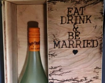 Lichtenberg Champagne Gift Box MTO * Lichtenberg Wine Gift Box MTO * Champagne Gift Box MTO Wedding Gift* Special Occasion