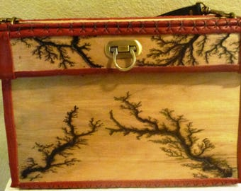 Lichtenberg Wood Handmade Purse- Unique Art Bag- Wearable Art- Made to Order- Made for you purse