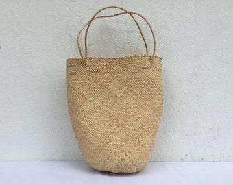 Malaysia Borneo Unique gift Women empowerment Handcrafted Iban Rattan Tote Gift Boho Fairtrade Handmade