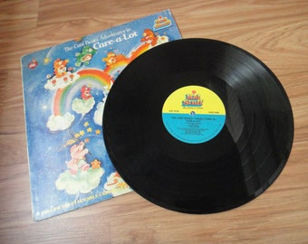 Care Bear Adventures in Care-a-Lot Vinyl Record by American Greetings, copyright 1983 by Kid Stuff Records & Tapes