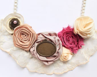 Exquisite Necklace with Lace  and a Touch of Vintage Charm