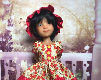 Floral Romper and pull on Jumper for Ruby Red Fashion Friends and similar size dolls
