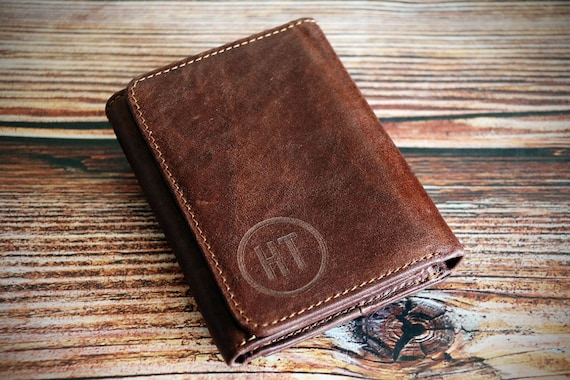 df927f929beb5 Personalized trifold wallet with initials trifold wallets