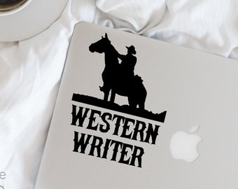 Writer Decal - Western Writer Vinyl Decal - Writer - Author - Wall, Office, Computer, Laptop - Various Colors
