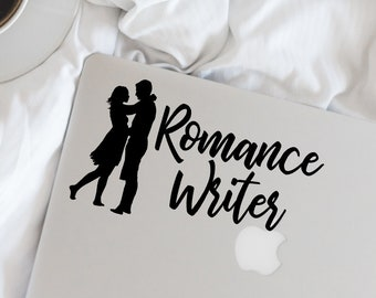 Writer Decal - Romance Writer Vinyl Decal - Writer - Author - Wall, Office, Computer, Laptop - Various Colors