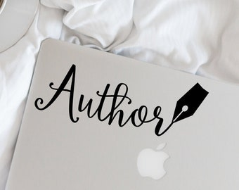 Writer Decal - Author Pen Vinyl Decal - Writer - Author - Wall, Office, Computer, Laptop - Various Colors - Various Sizes