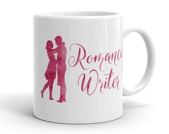 Writer Mug - Romance Writer Pink Couple Coffee Mug - Author - NaNoWriMo