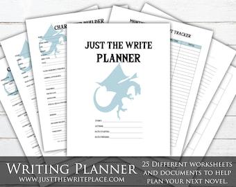 Fantasy Writing Planner Digital Printable, Novel Planning Binder, NaNoWriMo, Writing Worksheets, Novel Planner, Novel Worksheets