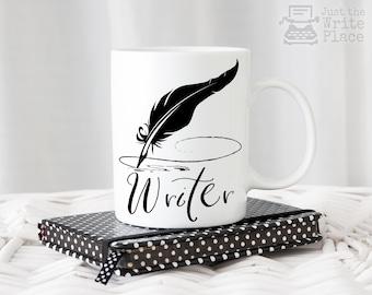 Writer Mug - Writer Quill Pen Coffee Mug - Writer Gift - Author Gift - NaNoWriMo