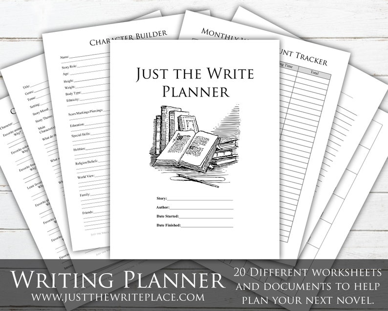 Writing Planner Digital Printable Novel Planning Binder image 0