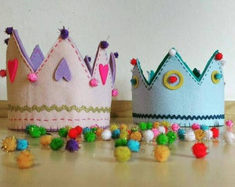 Felt crown. To play dress up or to be King/queen on your birthday