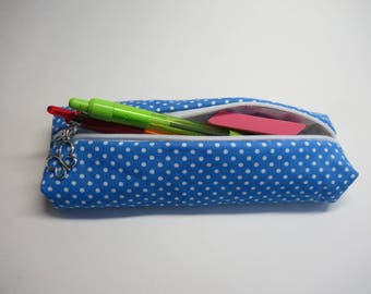Fabric pencil case, zipper pouch, pens bag, mothers day gift, teachers gift, back to school gift