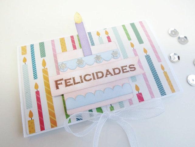 Birthday Gift Card Holder Birthday Card Scrapbook Envelope Etsy