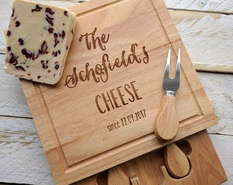 Personalised Family Cheese Board (with utensils)