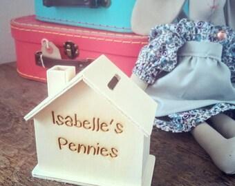 Personalised Wooden Money Box Children's Gift