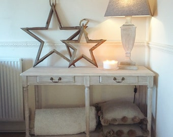 New - High Quality Console / Hall Table (grey, white wood)