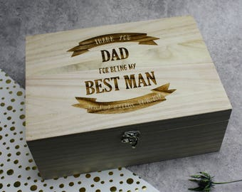 Personalised Wooden Beer Box (Best Man Gift) Men's Gift - Bespoke and Unique