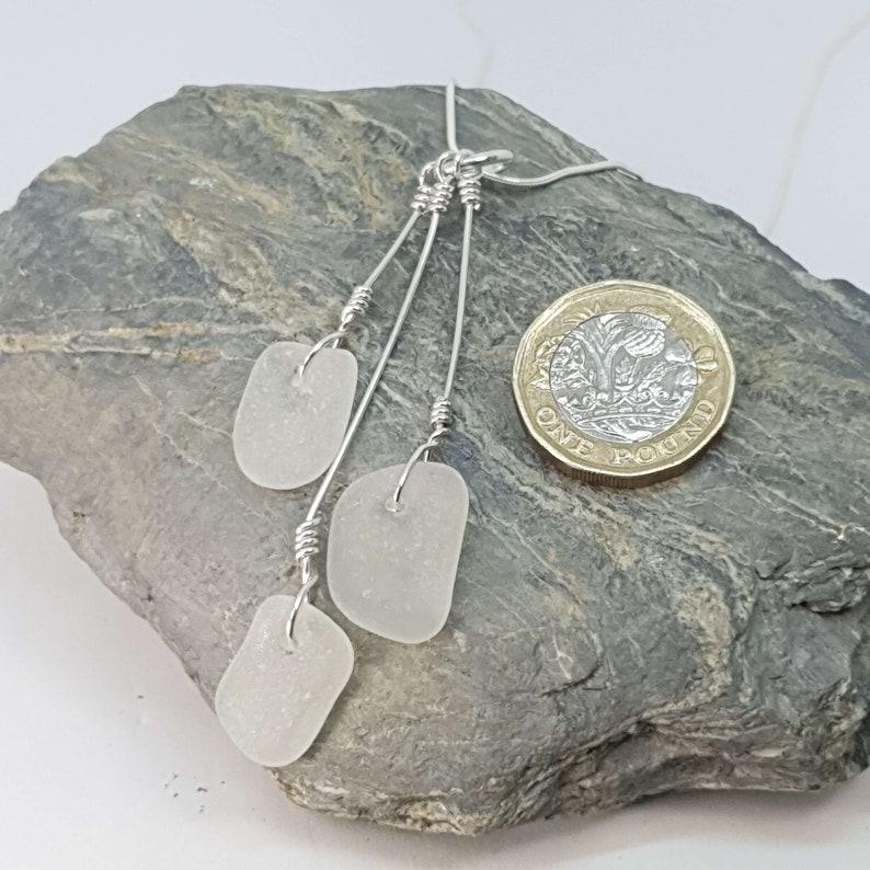 Sterling Silver Handmade Cornish Sea Glass Jewellery Budnic Unique Design- Birthday Anniversary  Wedding  Bridesmaids Perfect Gift