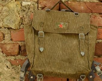 Military Backpack,Waterproof Backpack,Green Military Bag,Vintage Army Bag,Unisex Bag,Camouflage Backpack,Old German Army Bag,Vintage Gift