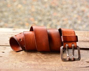 Ceinture en cuir marron, argent boucle de ceinture, ceinture en cuir  véritable, encoche Double boucle ceinture unisexe, Retro en cuir, ceinture  en cuir Boho ... f708a7747c2