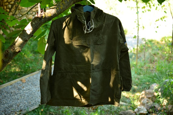 Vintage Military Green Canvas Anorak,Military Anor