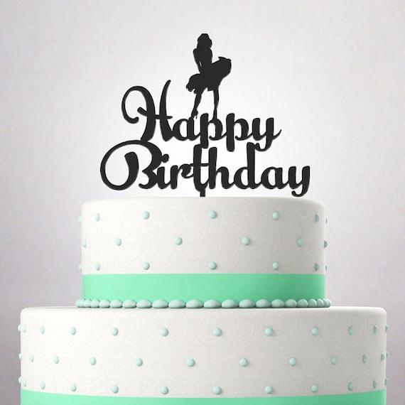 Birthday Cake Topper Funny Marilyn Monroe Happy Birthday Mr Etsy