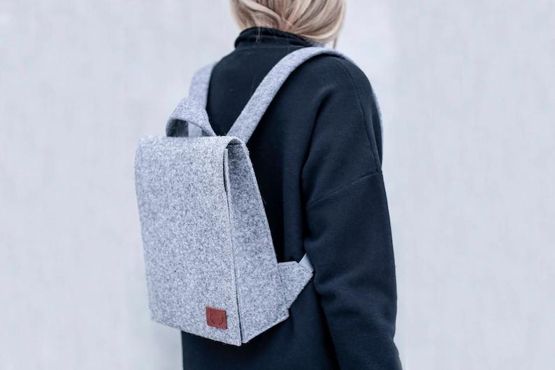 57194a6dbd18 Backpack / Macbook Pro 13 inch / Laptop Bag / Felt Laptop Bag / Wool Felt  Bag / 13 inch Laptop / Macbook Pro Bag / Backpack / Laptop case