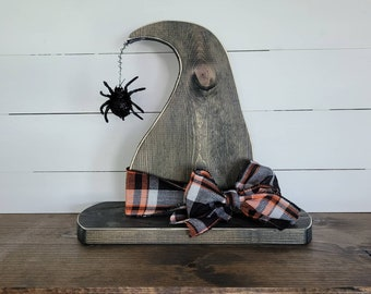Wooden Witch Hat, Halloween Decor, Witch Hat, Spooky Decor, Handmade Halloween Decor, Wooden Decor, Fall Decor, Farmhouse Halloween Decor