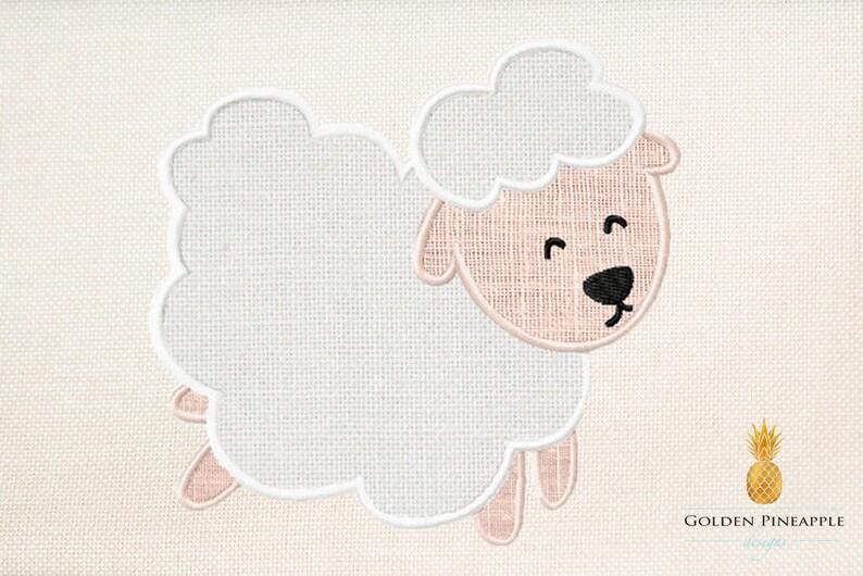 39493091b4f3 Sheep applique embroidery design lamb applique design baby