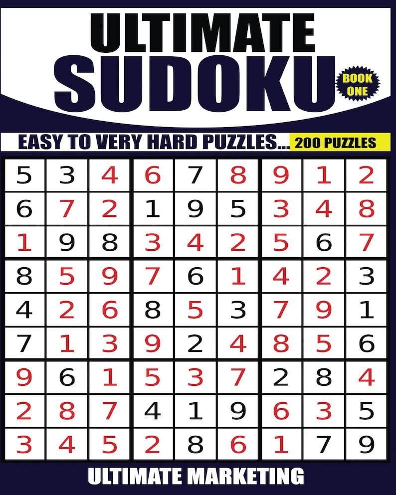 Ultimate Sudoku Puzzle Book, Volume One, in PDF Format