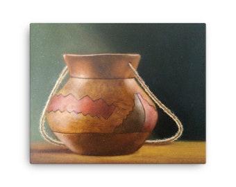 Old clay jug