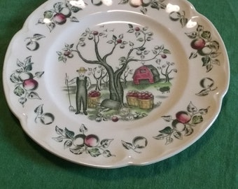 Vintage Johnson Bros/ Made In England/Aplle Orchard/Apple Harvest/ Hand Engraved/ Servingware/Dinnerware/Red and Green/Replacement