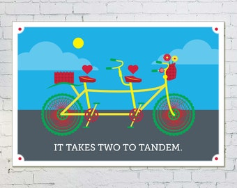 """It Takes Two to Tandem Poster - 13"""" x 19"""""""