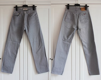 Mustang Jeans   High Waisted Gray Women Girl Men Jeans   Vintage Mustang  Jeans Size 28 x 32 W28 L32 8ef22575f6