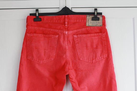 be39dfb08fdb9 Ralph Lauren Polo Jeans CO. haute taille rouge Denim Jeans   Etsy