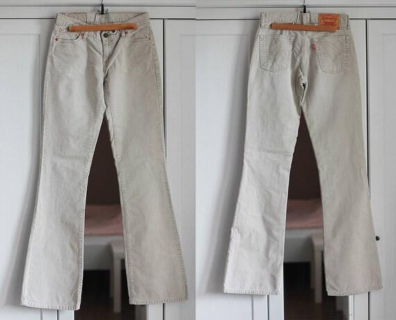 Levi's 529 Beige Gray Jeans Vintage Corduroy Levis