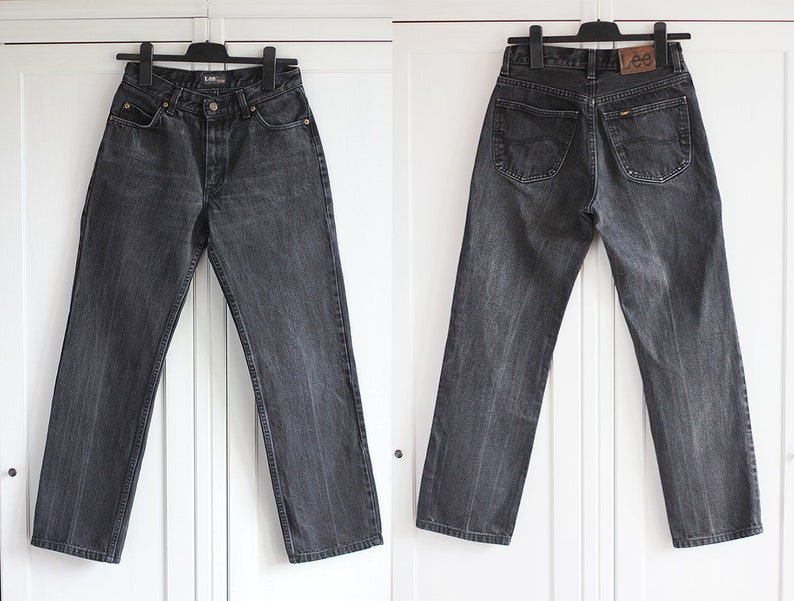 cd5285cf4f2 Lee Jeans Black Denim Vintage Men s Women s Size W30