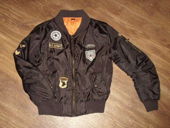 ADIDAS NYLON COLLEGEJACKE Bomberjacke Piloten Jacke vintage