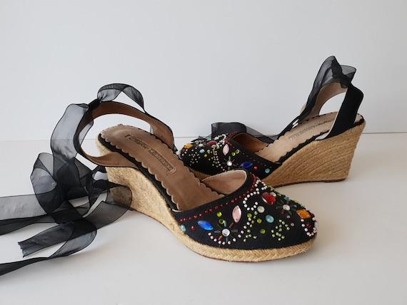 Vintage Espadrilles Sandals Buffalo London Boho Hi