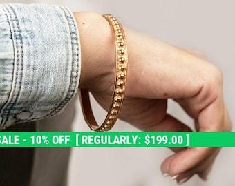 red gold cuff-vintage gold plated bracelet