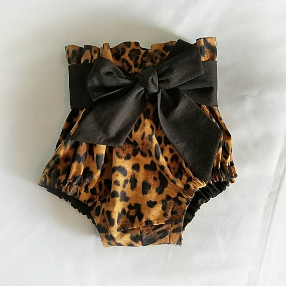 High waisted bloomers diaper cover child clothing cheetah