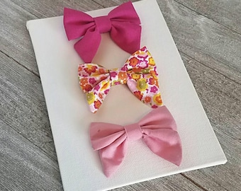 Baby bows, baby sailor bow
